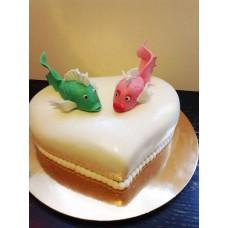 "Торт на День Святого Валентина ""Две рыбки"""