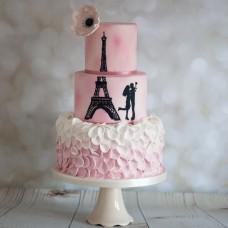 "Торт на День Святого Валентина ""Из Парижа с любовью"""