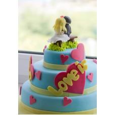 """Торт на День Святого Валентина """"Love is...Пара"""""""