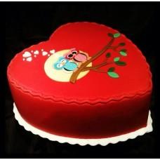 """Торт на 14 февраля """"Любящие совушки"""""""
