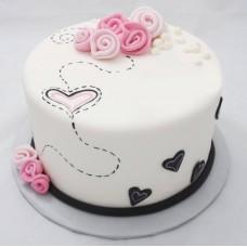 """Торт на День Святого Валентина """"Путь к сердцу"""""""