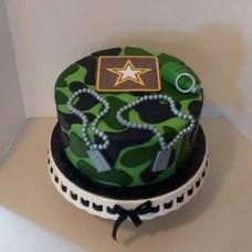 """Торт на 23 февраля """"Подарок защитнику"""""""