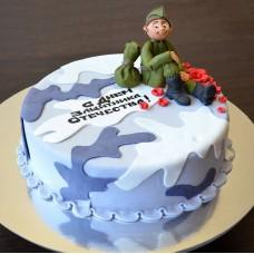 """Торт на 23 февраля """"Поздравления войну"""""""