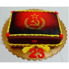 """Торт на 23 февраля """"СССР"""""""