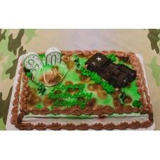 """Торт на 23 февраля """"Военный джип"""""""