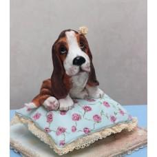 "Новогодний торт 2018 ""Ушастая собака на подушке"""