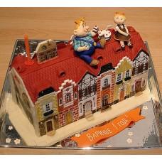 """Детский торт """"В гостях у Карлсона"""""""