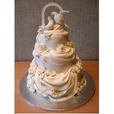 """Свадебный торт """"Белые голубки"""""""