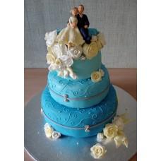 """Свадебный торт """"Рай один на двоих"""""""