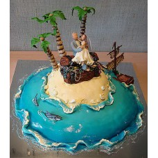 """Свадебный торт """"Райский остров"""""""