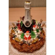 """Торт """"Новогодняя корзинка"""""""
