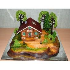 """Торт """"Деревянный домик"""""""