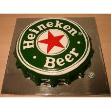 "Корпоративный торт  ""Крышка Heineken"""