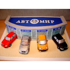 "Корпоративный торт ""Салон Автомир"""