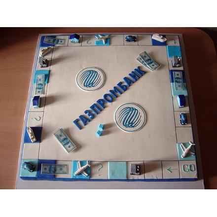 """Торт с логотипом """"Банк Газпром"""""""