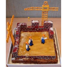 """Торт """"Стройка дома"""""""