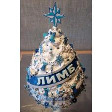 """Новогодний торт на заказ """"Елка на корпоратив"""""""