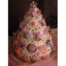 """Новогодний торт на заказ """"Елка с колокольчиками"""""""