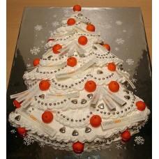 "Новогодний торт на заказ ""Мандариновая елочка"""
