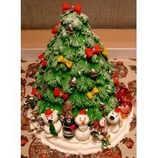 "Новогодний торт на заказ ""Подарки под елочкой"""