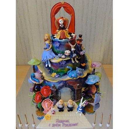 "Детский торт ""Алиса в Стране Чудес"""