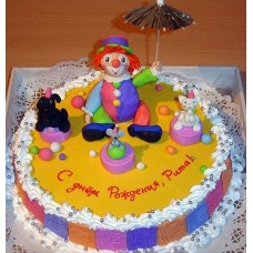 """Детский торт """"Веселый клоун"""""""