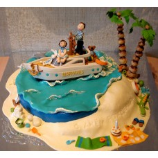 "Детский торт ""Яхта Марианна"""