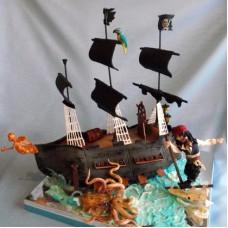 """Детский торт """"Пираты Карибского моря. Капитан Джек Воробей"""""""
