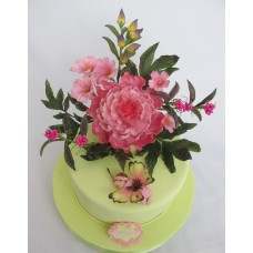 """Детский торт """"Бабочка в цветах"""""""