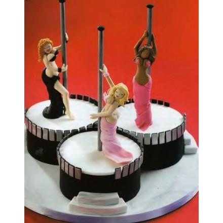 """Эротический торт """"Девушки на шесте"""""""