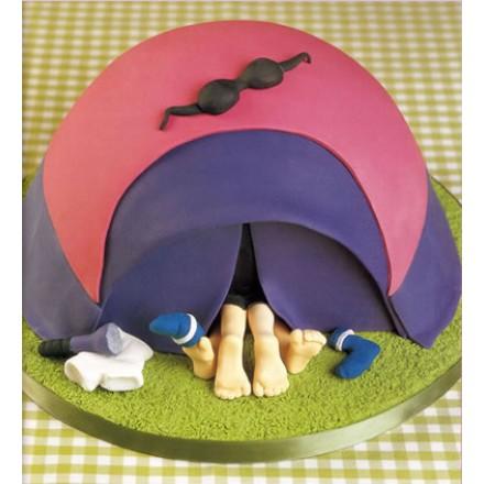 """Эротический торт """"Развлечение в палатке"""""""