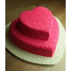 """Торт """"Розовые сердечки"""""""