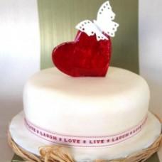"Торт на День Святого Валентина ""Бабочка на сердце"""