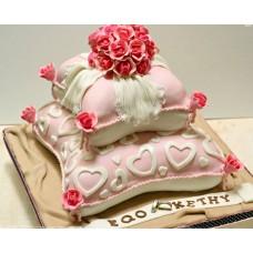 """Торт на день влюбленных """"Букет алых роз"""""""