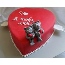 """Торт на День Святого Валентина """"Я тебя люблю"""""""