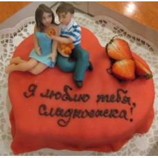 """Торт на день влюбленных """"Мечта девушки"""""""