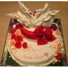 """Свадебный торт """"Танец лебедей"""""""
