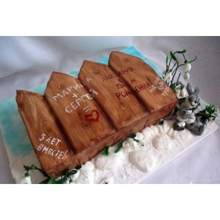 "Торт  ""5 лет вместе!"""