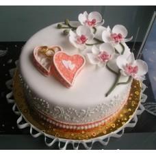 "Торт на свадьбу ""На роспись"""