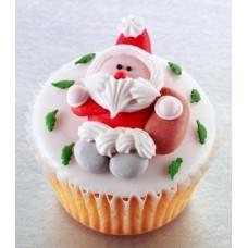 """Капкейки на Новый год """"Дед Мороз"""""""