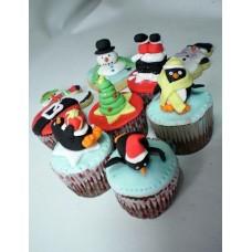 """Капкейки на Новый год """"Пингвинчики"""""""