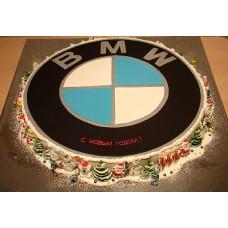 """Торт """"Новогодний BMW"""""""