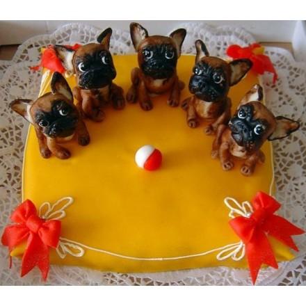 """Торт """"Команда маленьких собачек"""""""