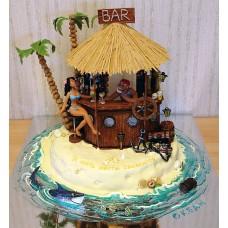 "Торт ""Бар на пляже"""