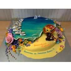 """Торт """"Каникулы на берегу океана"""""""
