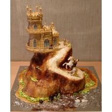 """Свадебный торт """"Замок любви"""""""