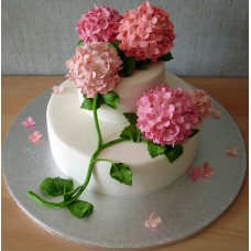 """Свадебный торт """"Букет сирени"""""""