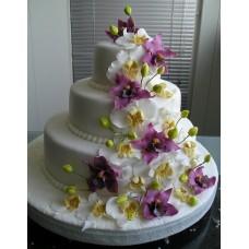 """Свадебный торт """"Фантастические орхидеи"""""""