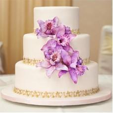 """Свадебный торт """"Фиолетовый букет"""""""