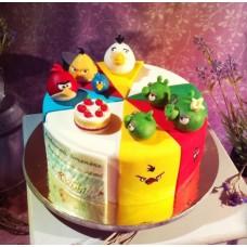 "Детский торт ""Angry Birds"" №2"